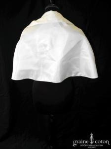 Priam - Étole en chantung ivoire