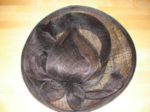 Chapeau en sisal noir