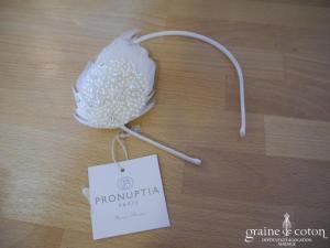 Pronuptia - Bibi serre tête en plumes et perles