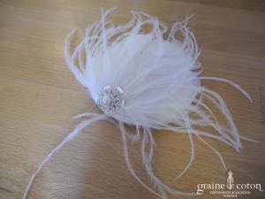 Pronuptia - Bibi en plumes monté sur pince