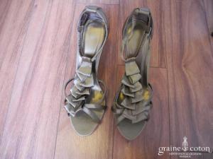 Pronuptia - Sandales (chaussures) en satin chocolat