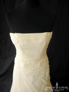 Pronuptia - Dolce Vita (drapé tulle fluide dentelle boule)