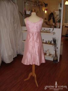 Antonelle - Ensemble tailleur rose en soie sauvage (non stocké en boutique, essayage sur demande)