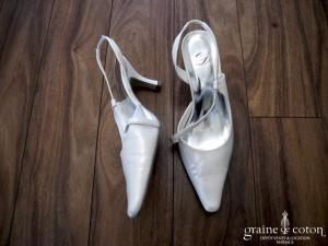 Dejean - Escarpins (chaussures) en cuir ivoire