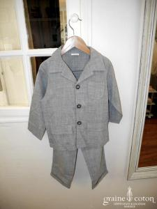 Costume petit garçon veste pantalon gris
