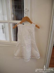 Jodhpur - Robe petite fille en lin blanc