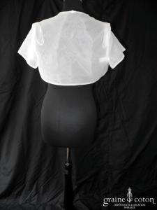 Inn Love pour Juste un baiser - Boléro en organza ivoire clair, manches courtes
