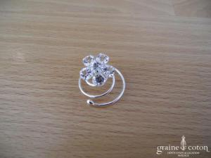 Bianco Evento - Lot de 5 curly fleur strass (316)