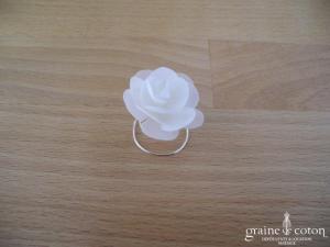 Bianco Evento - Lot de 6 curly fleur tissu ivoire (M9)