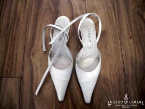 Cymbeline - Escarpins (chaussures) en satin ivoire
