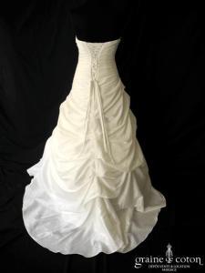 Noces blanches - Sirocco (taille basse drapé taffetas coeur laçage empire)