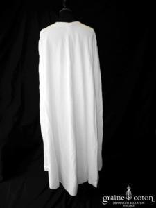 Création - Cape longue en velours ivoire clair