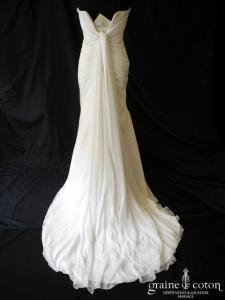 Pronovias - Abilene (sirène coeur drapé mousseline fluide)