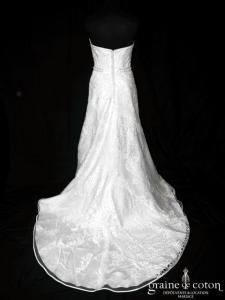 Pronuptia - Design Allure (dentelle tulle dos boutonné sirène bustier)