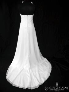 Pronovias - Himalaya (mousseline de soie fluide tour de cou drapé taille empire dos boutonné)