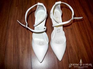 Escarpins (chaussures) à lanières ivoire nacré