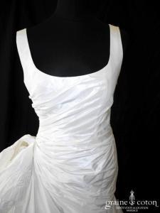 Cymbeline - Crystal (taffetas drapé bretelles courte longue)