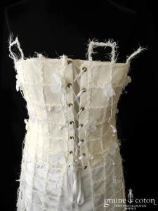Elsa Gary - Labyrinthe (soie sauvage sisal laçage bustier)