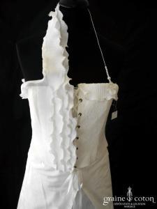 Elsa Gary - Eglantine (courte et longue soie sauvage tulle laçage tour de cou bretelles)