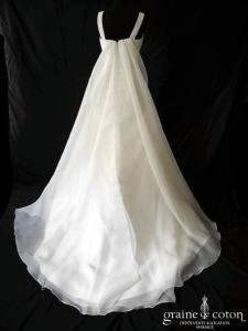 Pronovias - Ginesta (gaze drapé empire bretelles taille basse sirène)