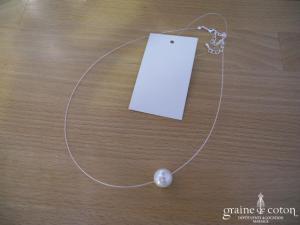 Pronuptia - Collier (tour de cou) perle ivoire