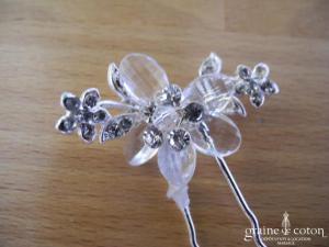 Eglantine Création - Pic à cheveux fleur et strass