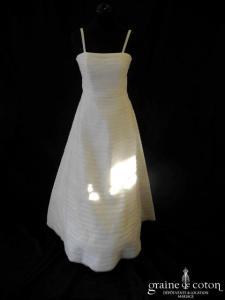 Cymbeline - Robe une pièce en bandes d'organza ivoire clair (bretelles)