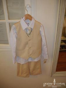 Pronuptia/Point mariage - Costume 4 pièces petit garçon beige