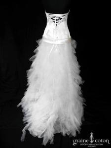 Cymbeline - Eurydice (courte et longue satin mouchoirs tulle taille basse laçage coeur bustier)