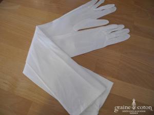Rembo Styling - Gants mi longs en soie ivoire