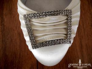 Guido la Rocca - Escarpins (chaussures) en satin ivoire