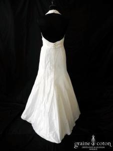 Cymbeline - Fabiola (taffetas drapé empire tour de cou décolleté dos-V dos boutonné nu sirène bretelles)