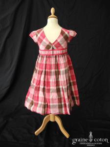 Gymboree - Robe de demoiselle d'honneur en coton fuchsia