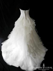 Pronovias - Leante (dentelle tulle volutes volants)