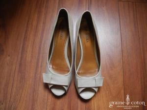 Donna Loka - Escarpins (chaussures) compensés en cuir capuccino clair
