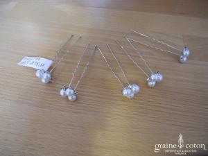 Claire's - Lot de 5 pics à cheveux perles