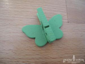Pinces papillons vertes - Lot de 6