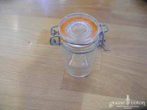 Mini bocal rond façon pot à confiture pour dragées