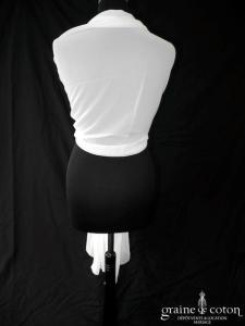 Pronuptia - Étole en mousseline ivoire clair