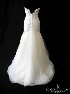 Pronuptia - Voile d'amour (coeur sirène mikado drapé tulle taille basse fluide bustier)