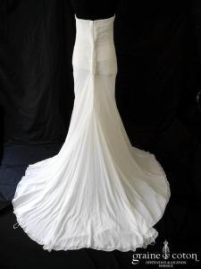 Pronovias - Lamber (fluide mousseline drapé plissé taille basse sirène)