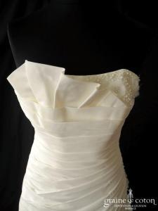 Pronuptia - Anne (taffetas drapé plissé laçage)