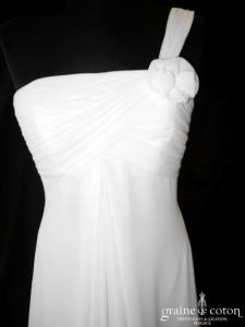 Atelier Diagonal - Aleaje (empire mousseline drapé fluide bretelles)