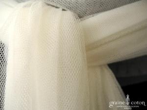 Pronovias - Boléro en tulle ivoire avec manches longues, façon cache coeur