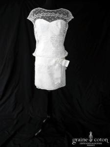 Cymbeline - Grinou (courte et longue tulle dentelle bretelles années 20 coeur fluide manches taille basse)