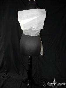 Cymbeline - Étole en organza de soie ivoire clair