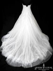 Pronovias - Leonela (coeur tulle drapé dentelle fluide)