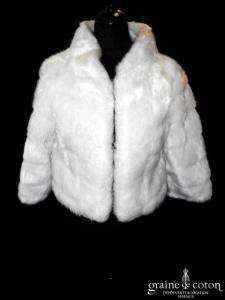 Manteau en fourrure synthétique ivoire