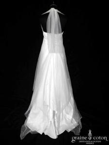 Mariées de Provence - Basilic (empire satin fluide dentelle tulle tour de cou bretelle laçage bohème)