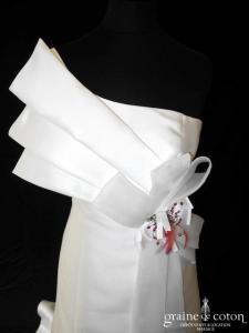 Chrysalide Création - Serena (drapé mikado bretelles dos boutonné taille basse)